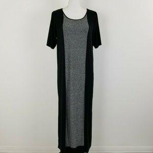 J Jill Wearever Collection Dress Black Gray